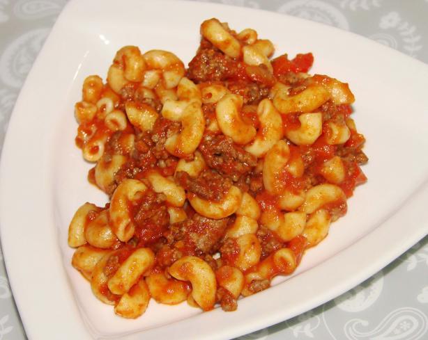 Peppers, Beef & Macaroni