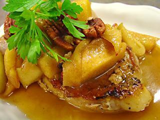 Apple Pecan Pork Chops