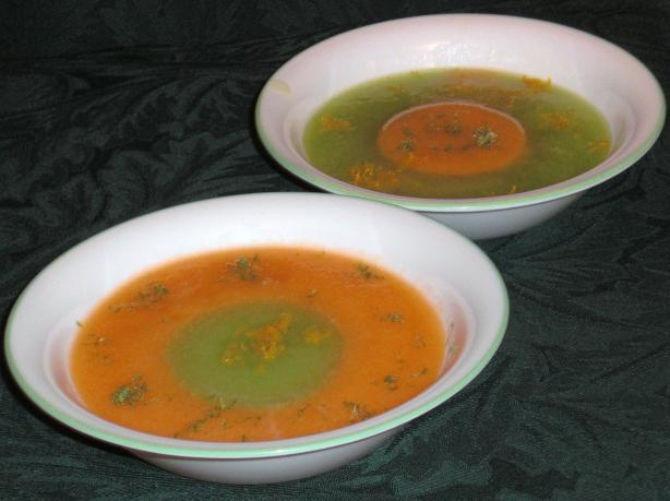 Two-Tone Melon Soup