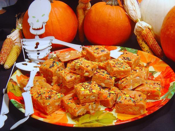 Sue's Super Easy Halloween Candy Corn Fudge