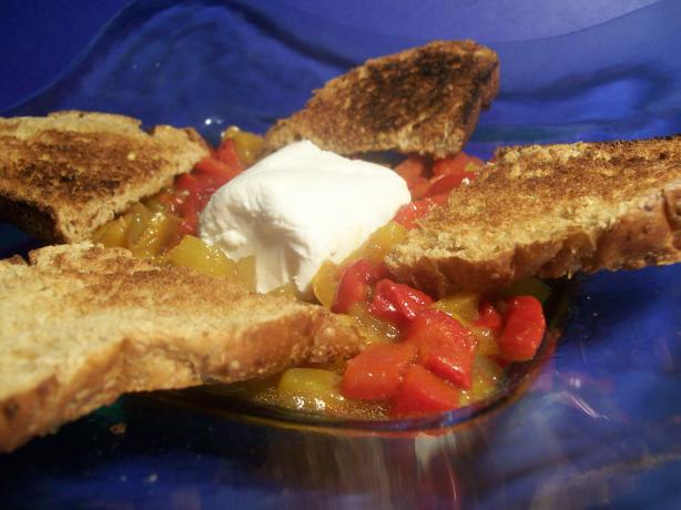Goat Cheese & Marinated Peppers
