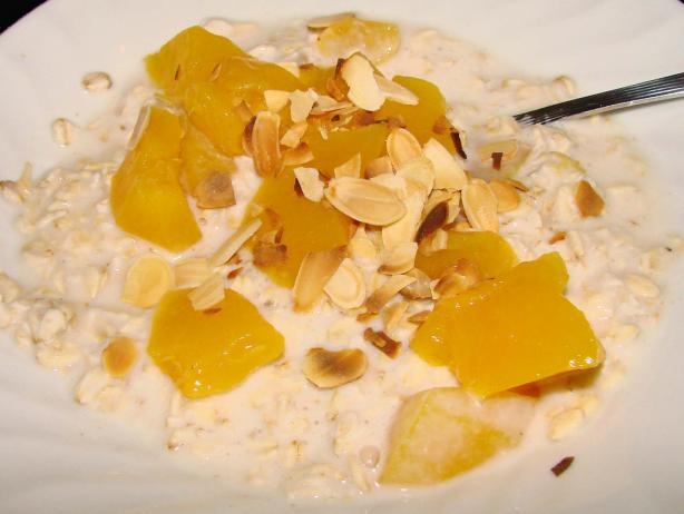 Peach and Bircher Muesli
