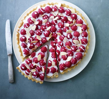 James Martin's double raspberry Bakewell tart
