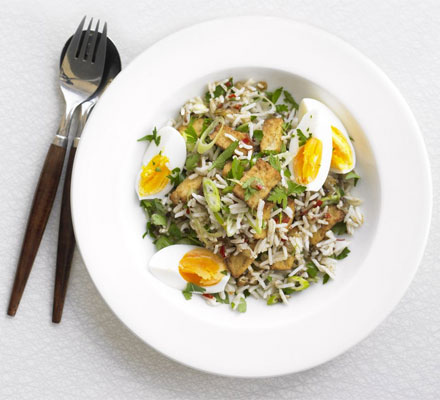Spicy tofu kedgeree