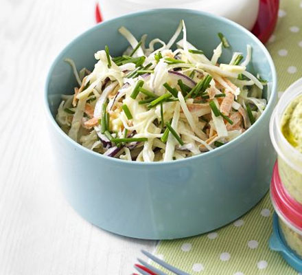 Cheese & chive coleslaw