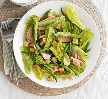Hot-smoked trout & mustard salad
