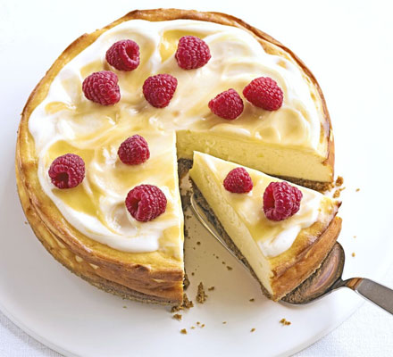 Luscious lemon baked cheesecake