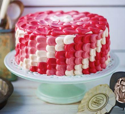 Edd Kimber's Bakewell ombre cake