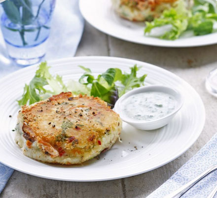 Indian-spiced fish cakes