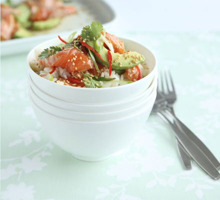 Japanese salmon & avocado rice