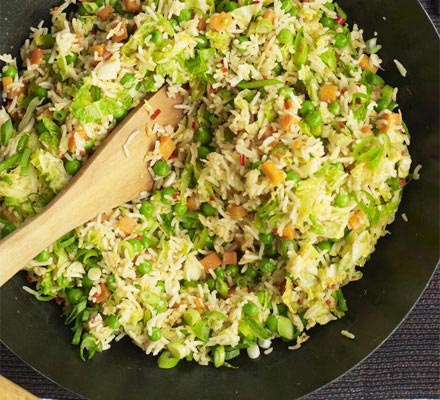 Spicy vegetable egg fried rice