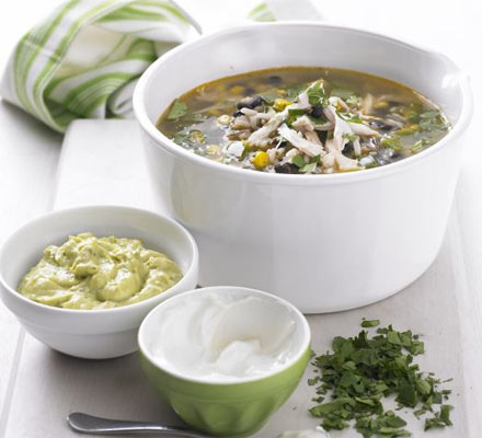 Mexican chicken & wild rice soup
