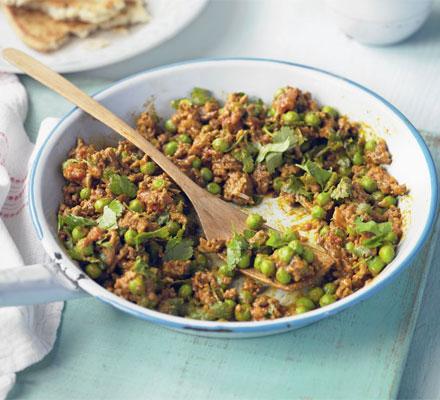 Keema with peas