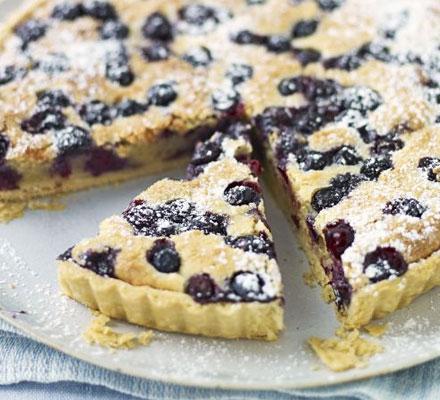 Blueberry & almond tart
