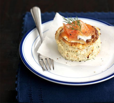 Smoked salmon soufflés