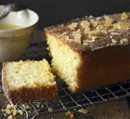 Lime & ginger drizzle cake