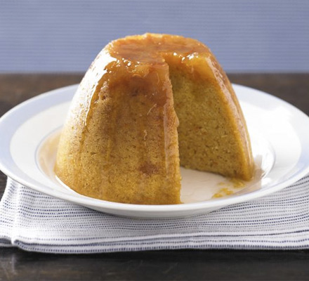 Stem ginger & squash steamed pudding