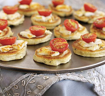 Rosemary & olive drop scones with goat's cheese