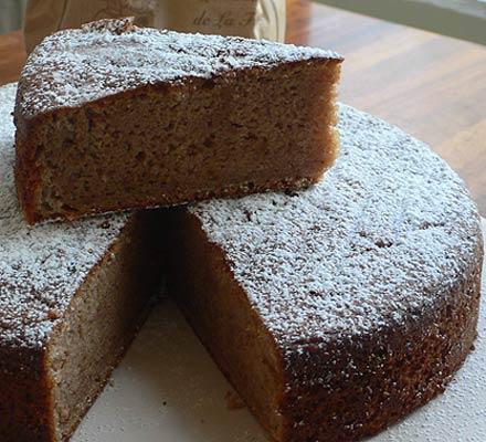 Lemon, crème fraîche and chestnut cake