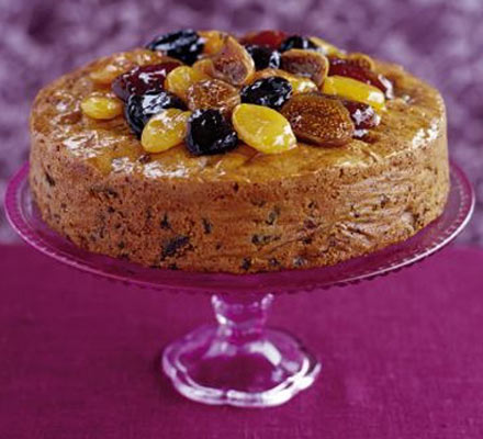 Gingered rich fruit cake