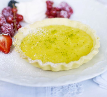 Lime curd tarts with summer berries