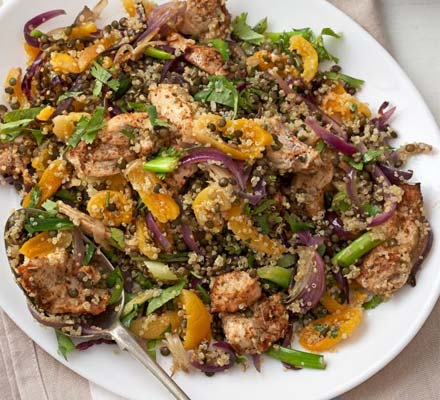 Spicy Cajun chicken quinoa