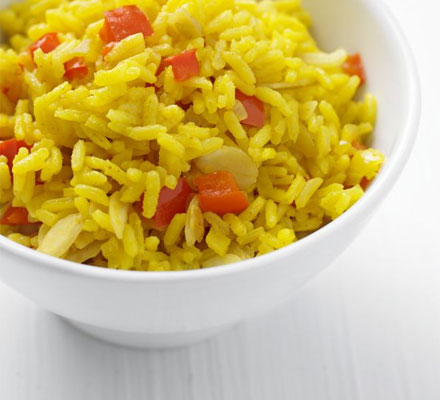Yellow pepper rice
