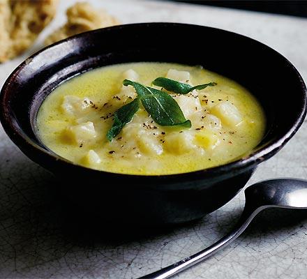 Chunky cheddar & celeriac soup