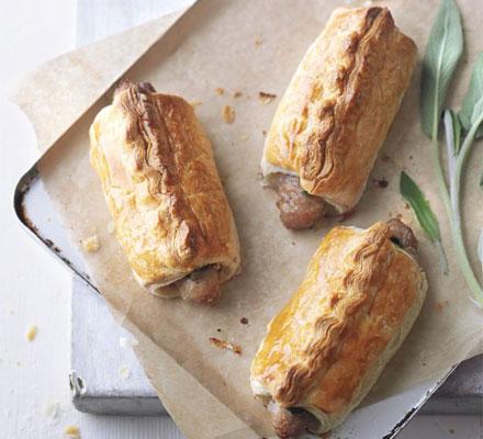 Pork & sage sausage rolls