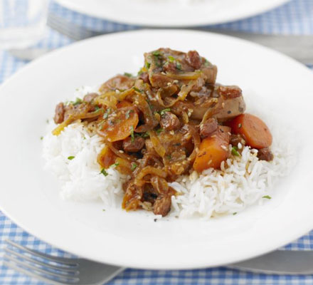 Pork ragout with carrots & cumin
