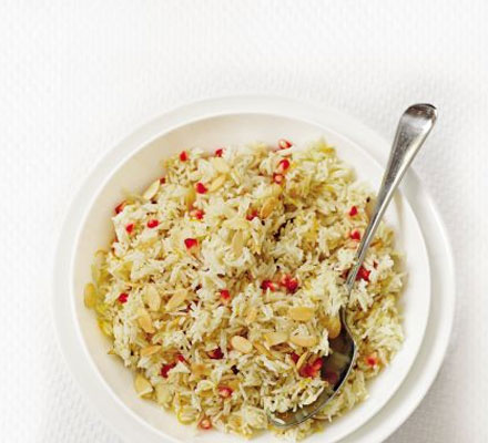 Zesty pomegranate rice