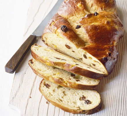 Mango tea loaf plait