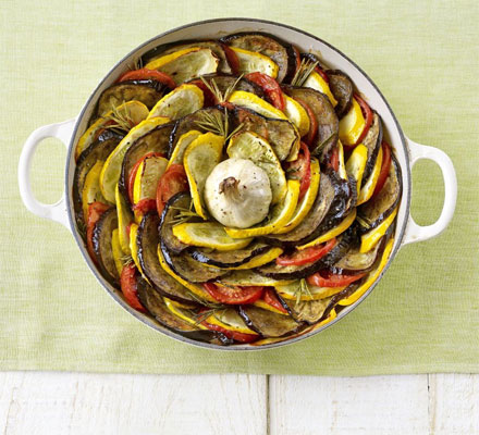 Layered roast summer vegetables