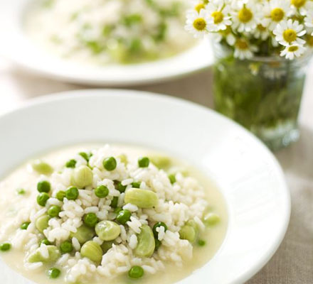 Risotto with peas & broad beans