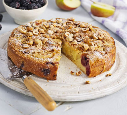 Blackberry & apple cake