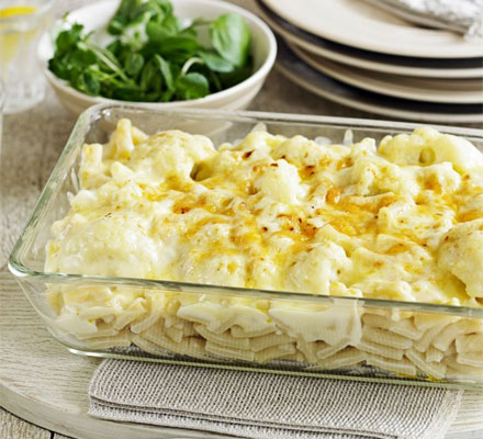 Cauliflower & macaroni cheese