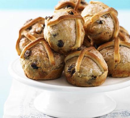 No-fuss hot cross buns
