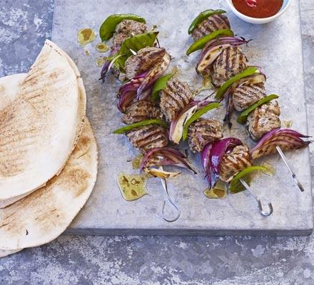 Lamb shashliks with rosemary & garlic