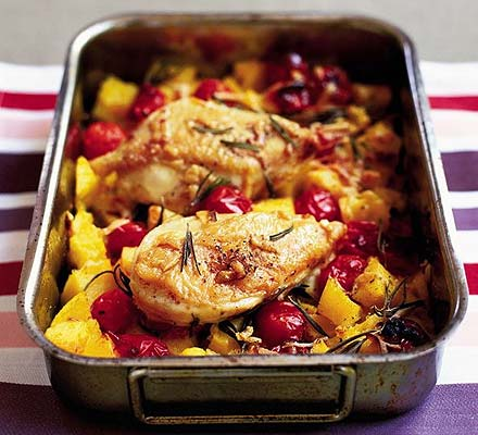 Crisp Italian chicken & polenta