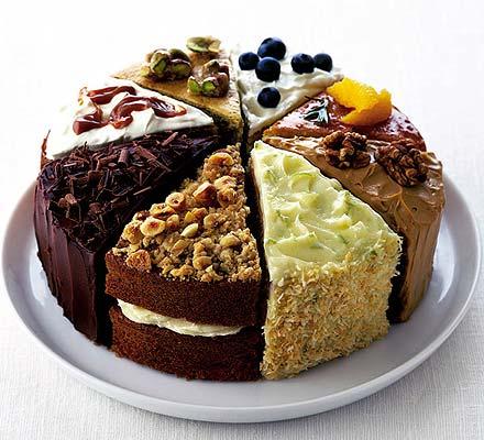 Pistachio praline & vanilla cake