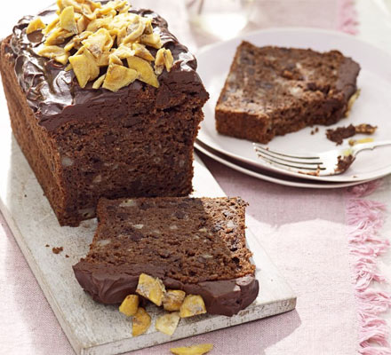 Chocolate & banana cake