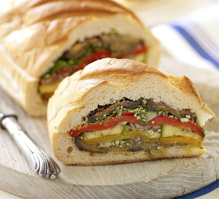 Grilled vegetable bloomer