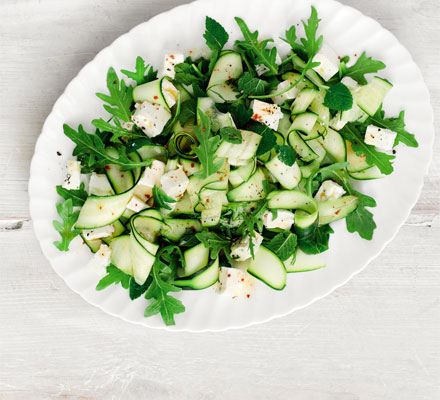 Courgette, feta & mint salad