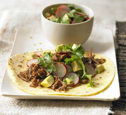 Pulled pork with Mexican almond mole sauce