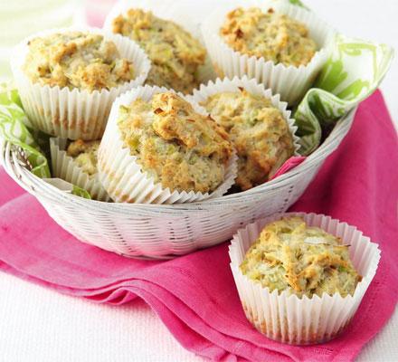 Carla's Leek & cheese muffins