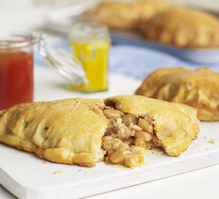 Sausage, bean & cheese pasties