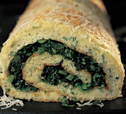 Herby cheese roulade