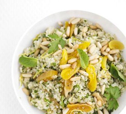 Herby apricot quinoa
