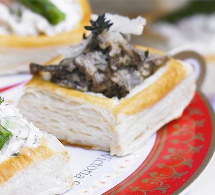 Wild mushroom & Parmesan vol-au-vent filling