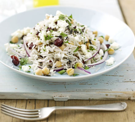 Wild rice & feta salad